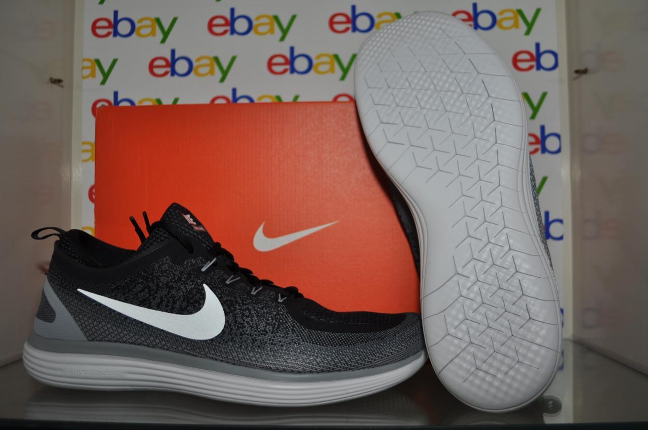 Nike Uomo libera rn distanza 2 scarpe scarpe scarpe da corsa 863775 001 / bianco / grigio nero il numero 15 b5a0a3