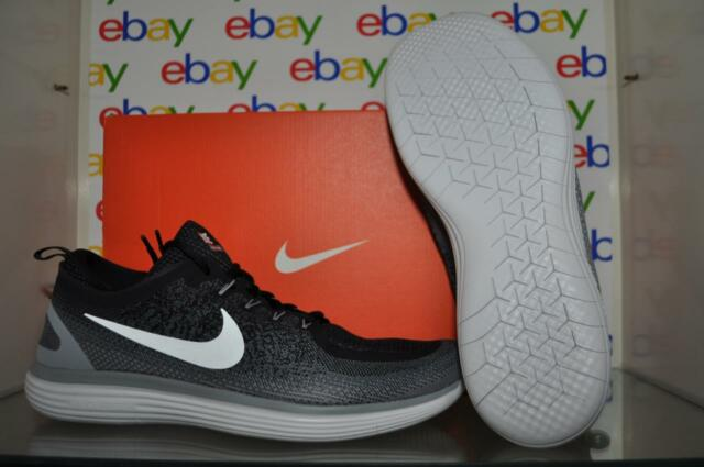 a9552ba33b6 Nike RN Distance 2 Mens 863775-001 Black Grey Woven Running Shoes Size 15