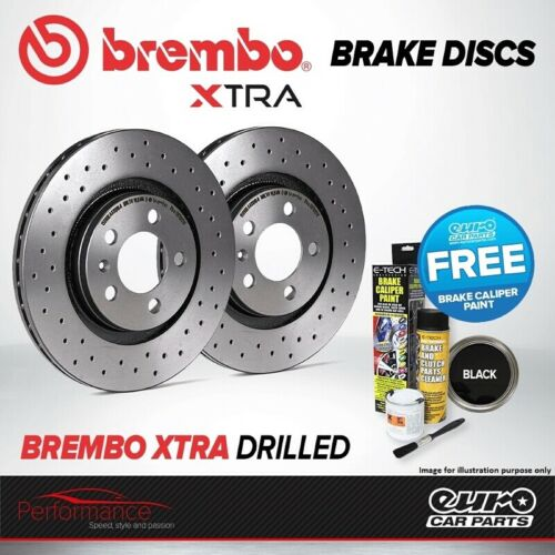 Brembo Xtra Rear High Carbon Drilled Brake Disc Pair Discs x2 08.A202.1X