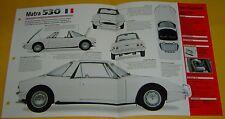 1969 Matra M530 LX Targa Roof V4 1699cc 73 hp Single Solex Carb info/specs/photo