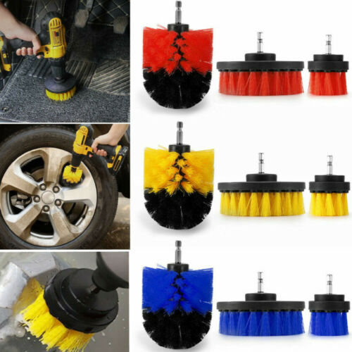 3Size Cleaning Drill Brush Cleaner Combo Tool Kit Electric Drill Power Scrubber