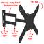 Corner-Full-Motion-TV-Wall-Mount-Articulating-Bracket-32-47-50-55-Inch-LED-LCD miniatura 3