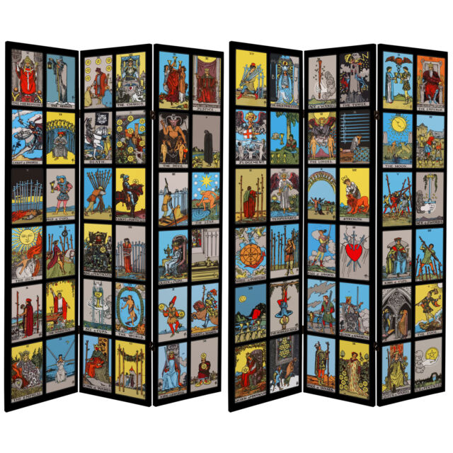 Room Divider Double Sided Foldable Differ Print Beach//Flower Wood Frame 4 Sizes~