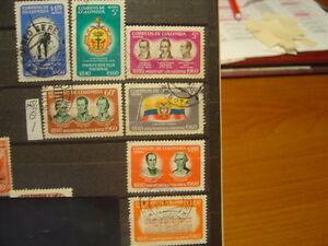 SELLOS-DE-COLOMBIA-USADOS-YVERT-N-365-1-AEREOS
