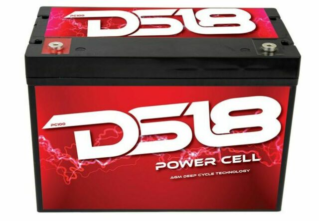 DS18 PC100 Dry Deep Cycle Car Audio Battery Marine 2750W 605-720A 12V Power Cell