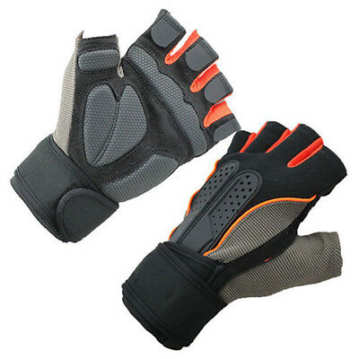 1Pair Wrist Wrap Gym Gloves For Sports Exercise Training Fitness Weight Lift Hot