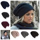 Men Chic Beanie Skull Baggy Women Slouchy Skullcap Warm Fleece Knit Hat Unisex