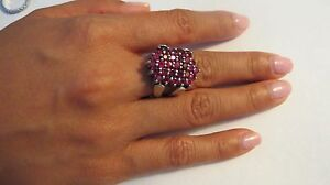THAILAND-Ruby-Red-Purple-Amethyst-Stone-Silver-Band-Ring-SIZE-7