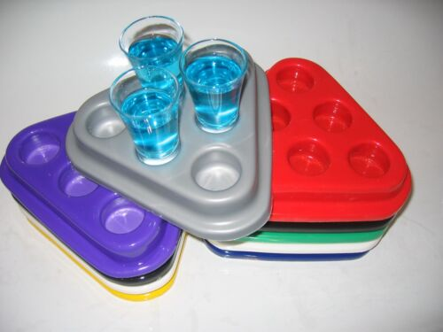 Shot Glass Serving Tray RED 6 Shot Glasses tray for pubs /& bars