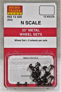 Micro-Trains-00312020-N-403-33-034-Metal-Wheel-Sets-12-Axles-New