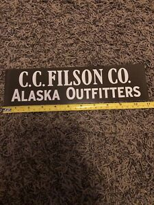 """Filson  Better Outdoor  Clothing  Seattle Black Red Sticker Decal Approx 3"""""""