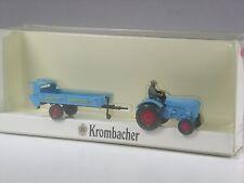TOP: Wiking Sondermodell Porsche Trecker mit Anhänger Krombacher Bier in OVP