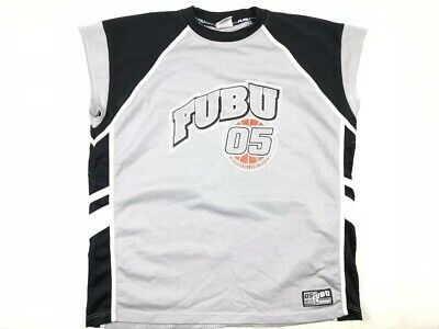 Activewear Tops Activewear Vintage 90's Fubu 05 Black Grey Allstar Jersey Men's Size 2xl