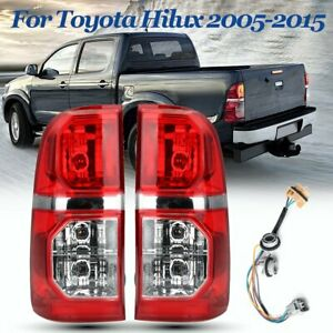 Pair-Rear-Tail-Light-Lamp-W-Wiring-Harness-For-Toyota-Hilux-SR-SR5-7-Gen-05-15