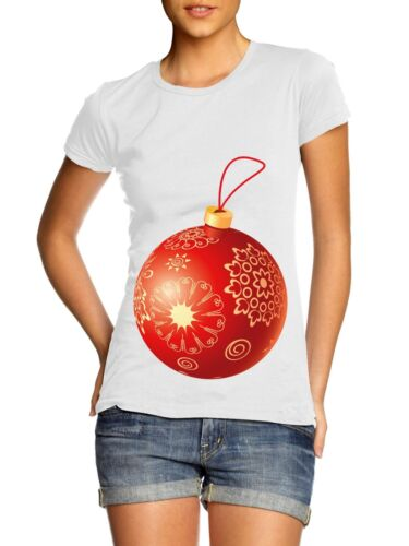 Pregnant Bauble LADIES WOMENS T SHIRT Christmas Maternity Novelty Funny Present