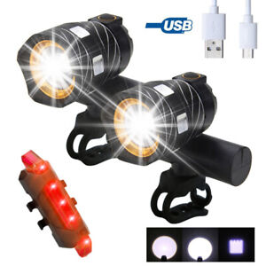 Rechargeable-15000LM-XML-T6-LED-ZOOM-USB-Front-Head-Bike-Bicycle-light-Rear-Lamp