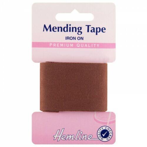 Hemline 1m x 35mm Iron On Mending Tape Repair Clothes Premium Quality 100/% Cotto