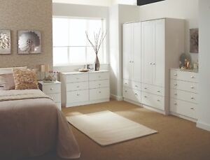 Fine Details About Albany White Wardrobe Chest Of Drawers Set Ready Assembled Bedroom Furniture Uk Download Free Architecture Designs Rallybritishbridgeorg