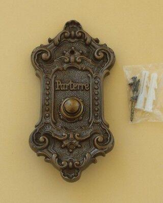 Antik Messing 1er Klingel im Jugendstil~Klingelschild~Klingelplatte~H60