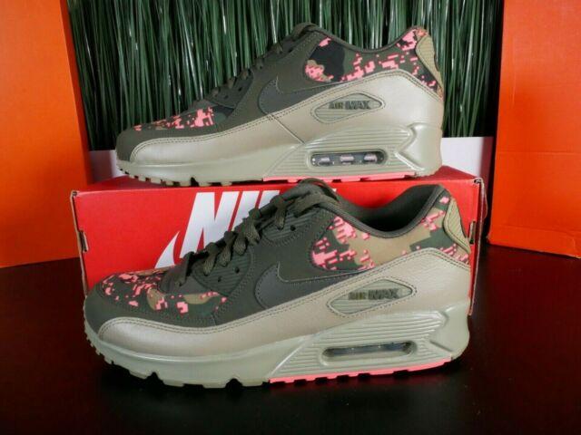 Nike Air Max 90 C Cargo Khaki Pink Mens Running Shoes AH8440 300 Size 9.5
