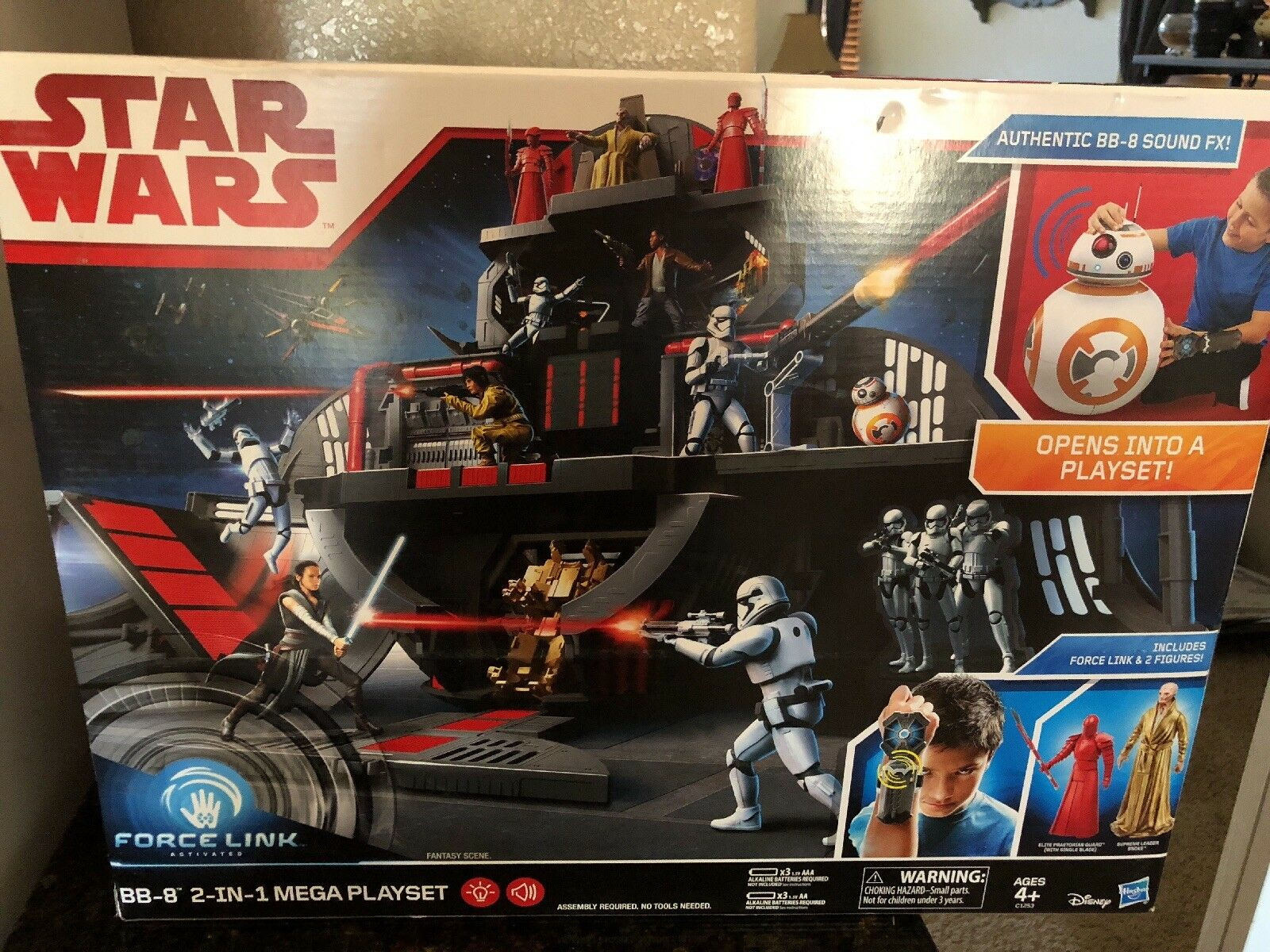 NEW    Sealed Star Wars Force Link BB 8 2-in-1 Mega Playset