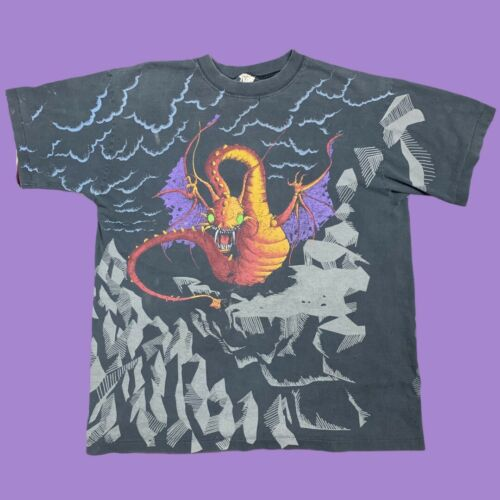 Vintage 90s Andazia Jabberwocky All Over Print XL