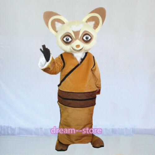 【SALE】 New Shifu Raccoon Mascot Costume Adult Size Kung Fu Panda Racoon Dress