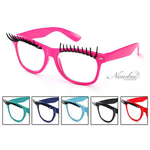 81ad49b4dc5d Eyelash Glasses Clear Lens 2 Pack Party Halloween Costume Accessory ...