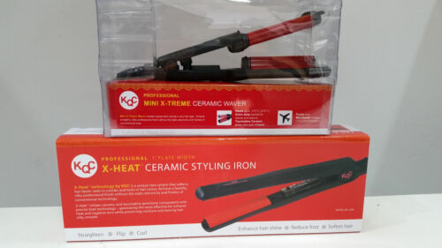 "KQC X-Heat 1"" Flat Iron + KQC Mini Deep Waver Iron"