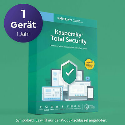 Kaspersky Total Security 2020 2021 1 Gerät 1 Jahr digital ...