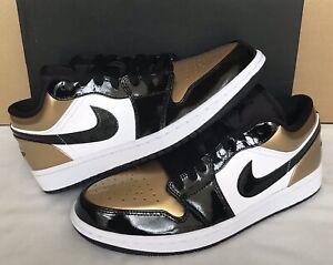 reputable site bce62 ae878 Details about Nike Air Jordan 1 Low Gold Toe Metallic Gold/Black/White  CQ9447 700 Men Size 8.5