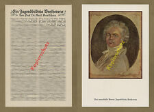 Karl Koetschau Porträt Beethoven Jugendbild Bonn Köln Musik Klassik Kunst 1927