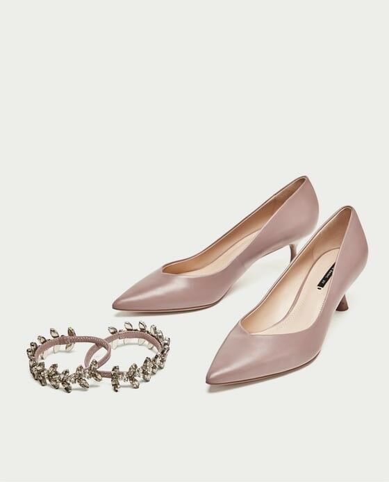 Zara New AW17 AW17 AW17 Kitten Heel chaussures With Bejewelled Straps Taille 6.5 EUR 37 NWT 6342d7