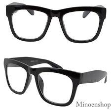 Thick Black Celebrity Men's Vintage Clear Lens Glasses Bold Frame Hip Hop Geek