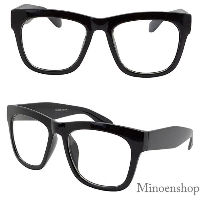 3a425667e1 Thick Black Celebrity Mens Vintage Clear Lens Glasses Bold Frame Hip Hop  Geek