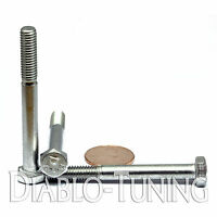 M6-1.0 X 55mm - Qty 10 - Din 931 Hex Cap Bolt / Screw - Stainless Steel A2-70