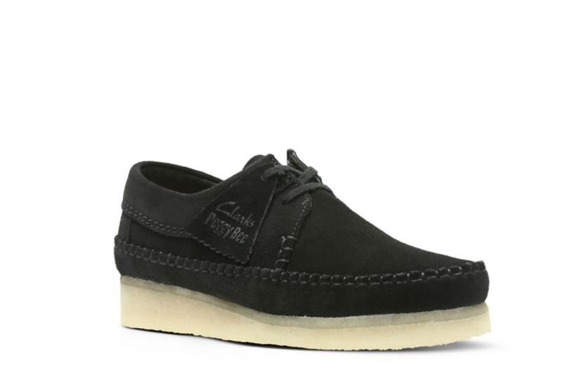 Clarks Originals Women's Weaver shoes Black Suede 26122847