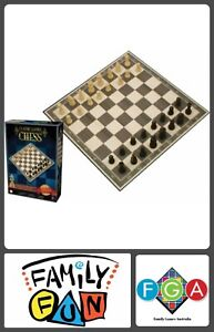 Details about Ambassador Classic Board Games Collection WOOD CHESS Game Set  Family & Friends