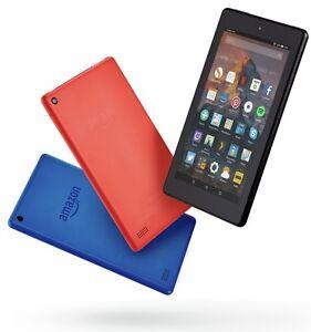 Amazon Fire 7 Alexa 7 Inch 8GB / 16GB WiFi Tablet - Black / Red / Blue - Argos