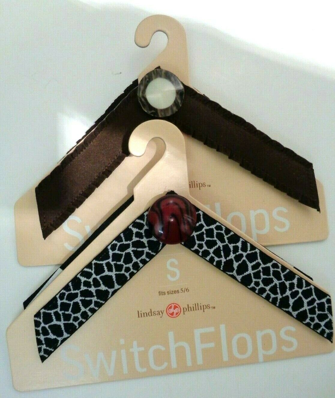 LINDSAY PHILLIPS SWITCH FLOP STRAPS Sz S Fitts 5/6 Switch Flops Sandals Lot of 2