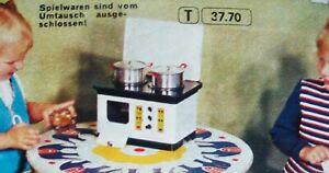 DDR Spielzeug BLECHHERD PUPPENSTUBE Metall elektrisch Metallspielzeug VEB GDR