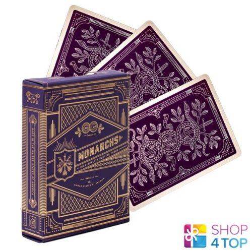 Monarchs theory 11 Spiel Karten Deck Lila Gold Zaubertricks Verpackt Neu