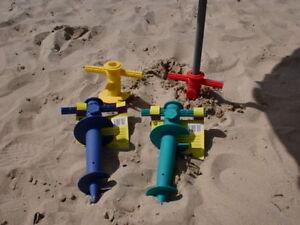 Douille de sol pour sable plage, parapluie support, support de parasol, parasol support rouge  </span>
