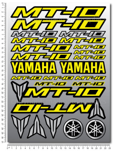 MT-10 fairing helmet motorcycle bike decals graphic set 27 stickers FZ red mt 10