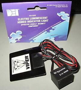 details about viper 620v armed logo alarm light dei 5906 5904 5706 350 electro luminescent viper remote start viper model 5305v 2 way car security