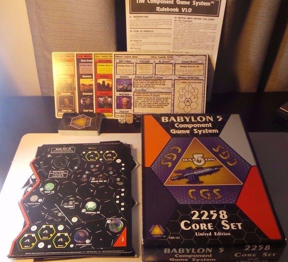 Babylon 5 Edición Limitada componente Juegos CGS 2258 Core Set RARE -    sin Uso
