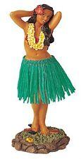Hawaiian Hawaii Island Car Dashboard Hula Doll Dancer Girl Posing Green # 40623