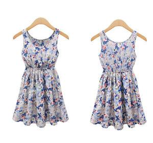 Women-Casual-Summer-Chiffon-Party-Evening-Cocktail-Floral-Sleeveless-Mini-Dress
