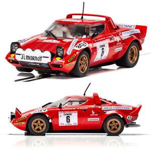 scalextric slot car c3930 lancia stratos tour de course rally win