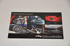 ORIGINAL CALLAWAY PERFORMANCE PRODUCTS BROCHURE
